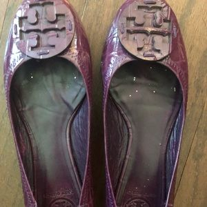 Tory Burch purple Reva flats size 8.5